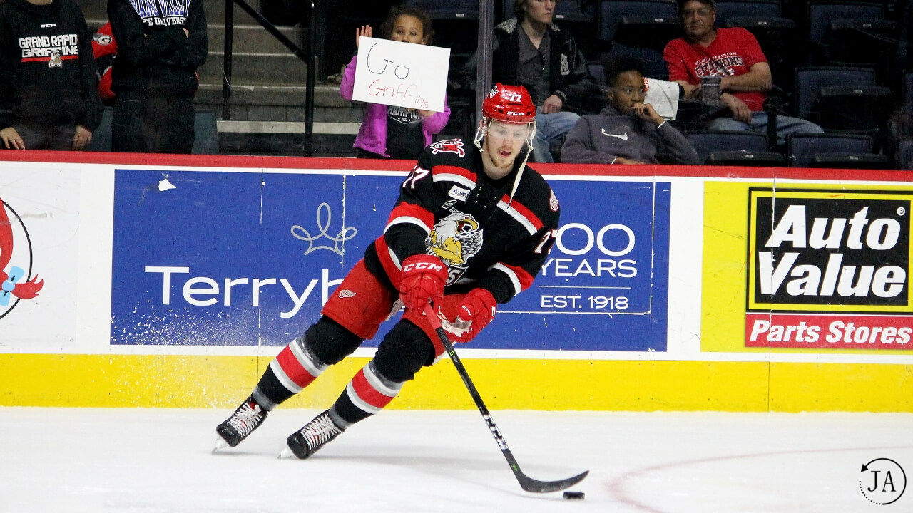 evgeny svechnikov, grand rapids, grand rapids griffins, red wings prospect, prospect, detroit, forward, calder cup, playoffs, round 1